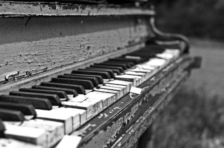 piano in nature