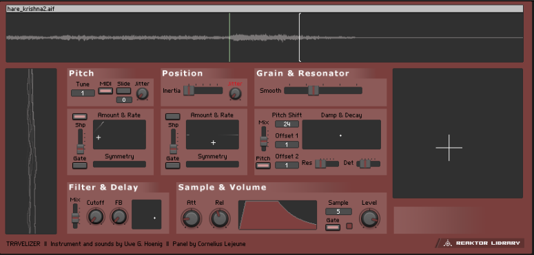 Travelizer FX in Reaktor