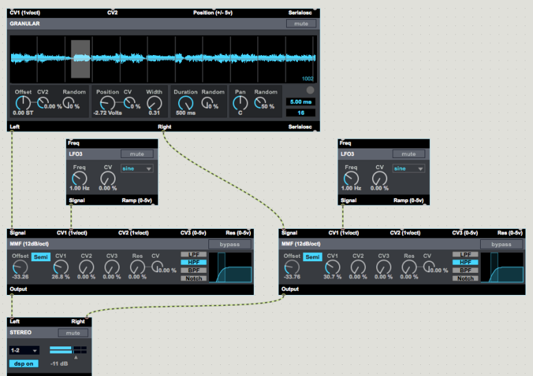 Granular synthesis with BEAP (Max/MSP)