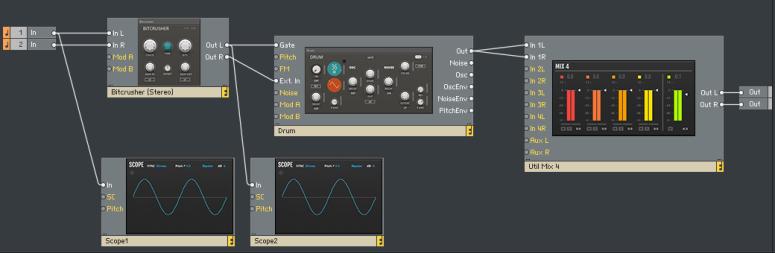 Reaktor Blocks: Bitcrusher + Drum